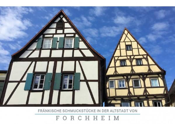 """Postkarte """"Fachwerkhäuser Forchheim"""""""