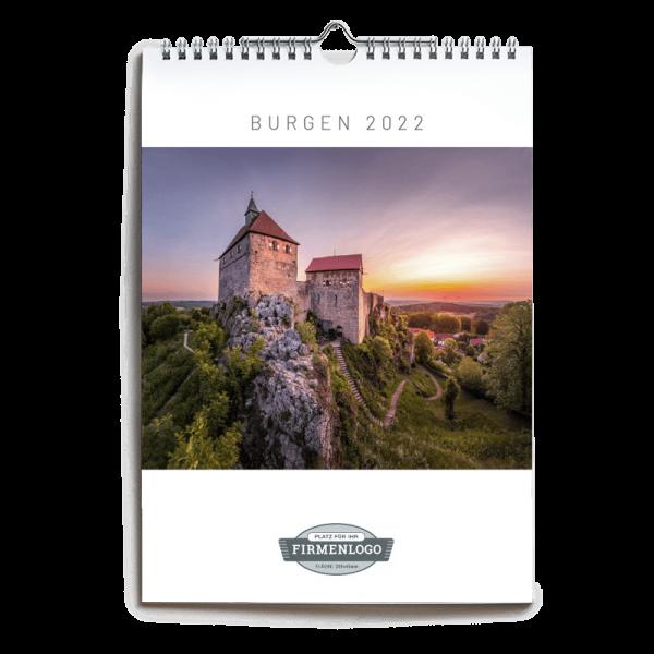 Werbe-Kalender Burgen 2022, DIN A4