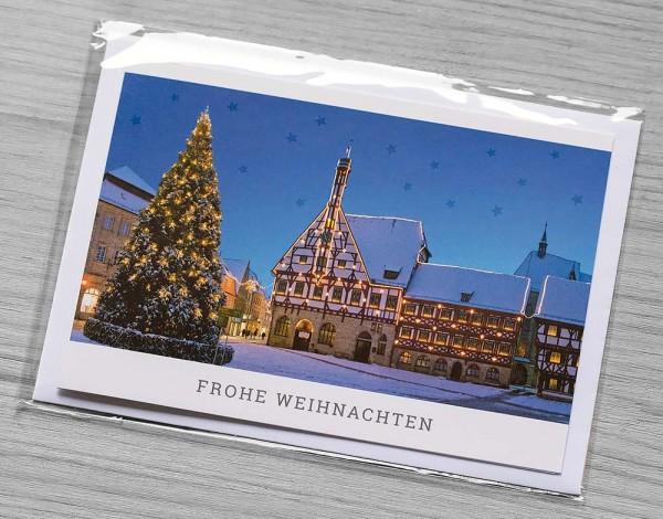Weihnachtskarte Rathaus Forchheim