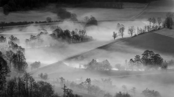 """Fine-Art-Abzug """"Nebel im Wiesenttal"""""""