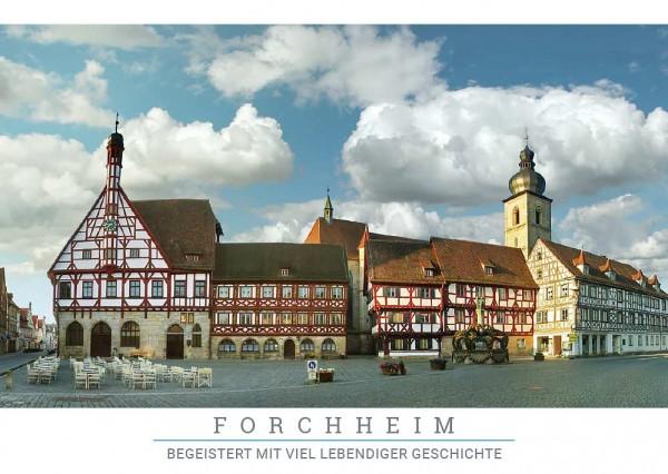 """Postkarte """"Rathaus Forchheim"""""""